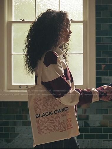 Zoya's Black-Owned print Bag on Gossip Girl