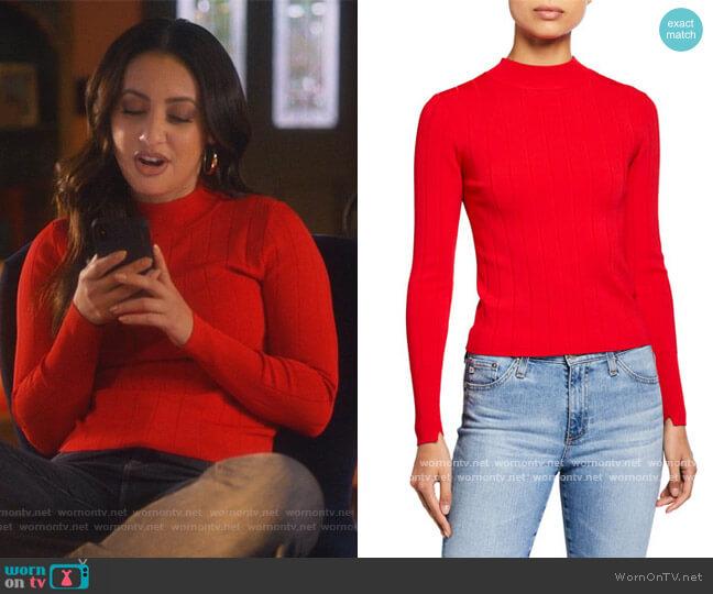 Koko Ribbed Crewneck Sweater by A.L.C. worn by Ana Torres (Francia Raisa) on Grown-ish