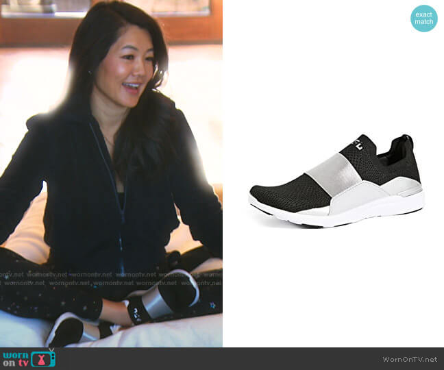 Techloom Bliss Sneakers by APL: Athletic Propulsion Labs worn by Crystal Kung Minkoff  on The Real Housewives of Beverly Hills