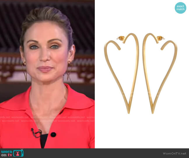Heart Throb Earrings by Accessory Concierge worn by Amy Robach  on Good Morning America