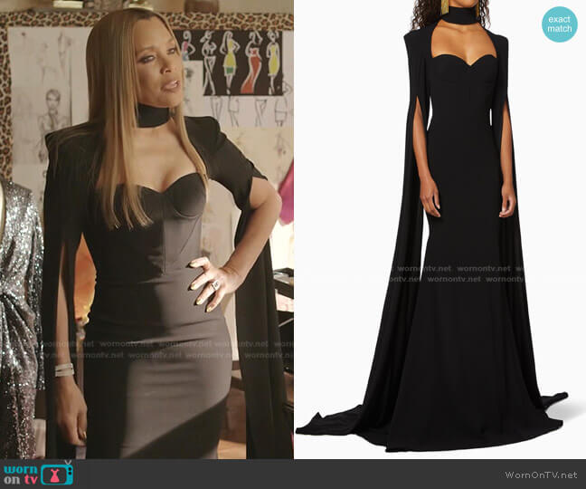 Bradford Gown by Alex Perry worn by Dominique Deveraux (Michael Michele) on Dynasty