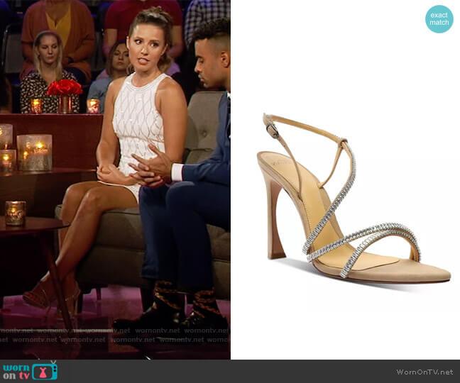Alana Zircone Suede Sandals by Alexandre Birman worn by Katie Thurston  on The Bachelorette