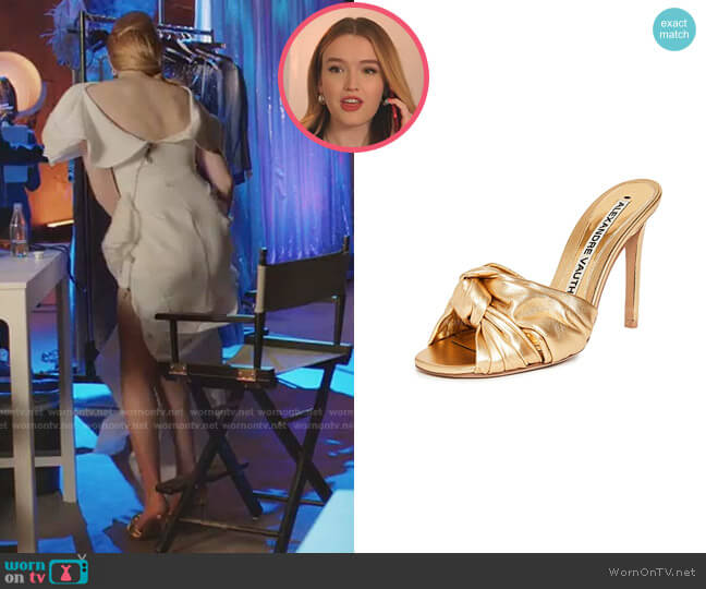 Leila Slipper Sandals by Alexandre Vauthier worn by Kirby Anders (Maddison Brown) on Dynasty