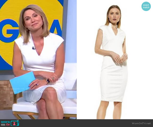 Katrina Dress by Alexia Admor worn by Amy Robach  on Good Morning America