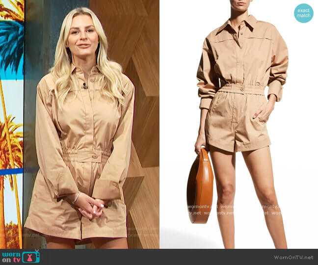 Leigh Cotton Romper by Alexis worn by Morgan Stewart  on E! News