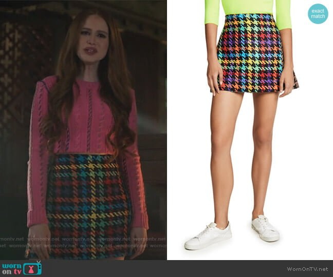 Darma Combo Crossover Skirt by Alice + Olivia worn by Cheryl Blossom (Madelaine Petsch) on Riverdale