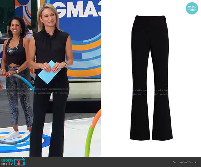 Serge Pants by Altuzarra worn by Amy Robach  on Good Morning America