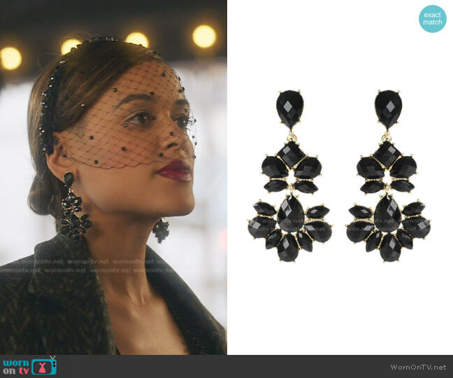Nello Chandelier Earring by Amrita Singh Jewelry worn by Julien Calloway (Jordan Alexander) on Gossip Girl