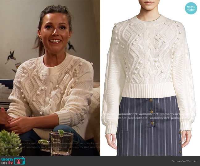 Brie Crop Wool Sweater by Amur worn by Katie Thurston  on The Bachelorette