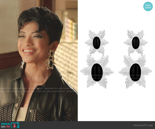 Florentina Earrings by Angelina Alvarez worn by Yssa Mei Panganiban on Dynasty