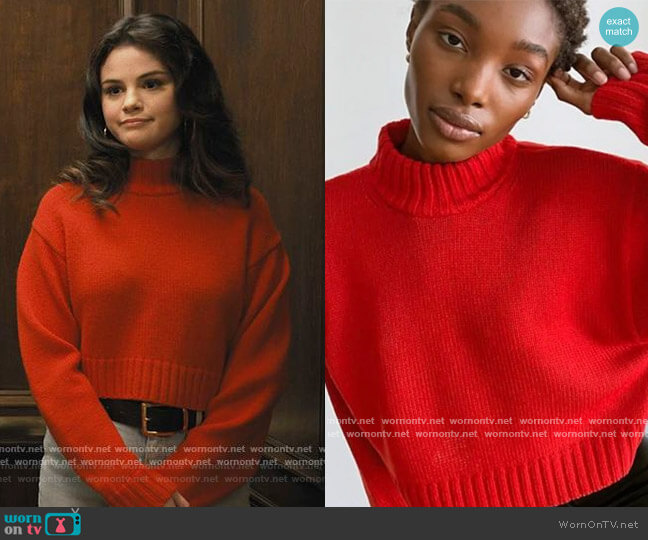 Harper Sweater by Wilfred Free at Aritzia worn by Mabel Mora (Selena Gomez) on Only Murders in the Building