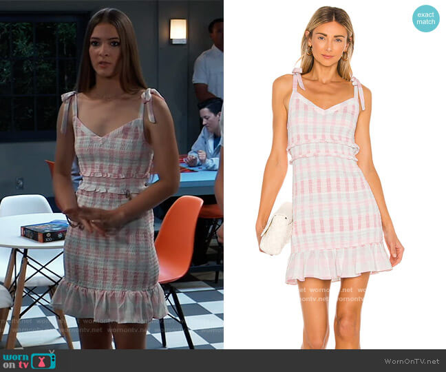 Smocked Mini Dress by BCBGeneration worn by Avery Kristen Pohl on General Hospital worn by Esme (Avery Kristen Pohl) on General Hospital