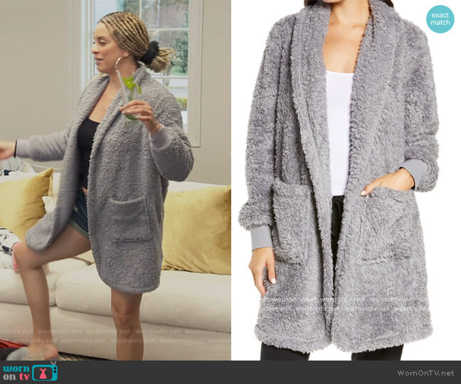 Fleece Cardigan by BP worn by Robyn Dixon  on The Real Housewives of Potomac