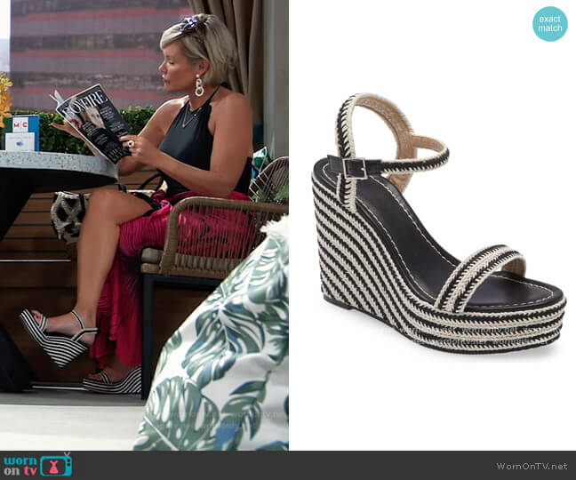Giana Platform Wedge Sandal by BP. worn by Ava Jerome (Maura West) on General Hospital