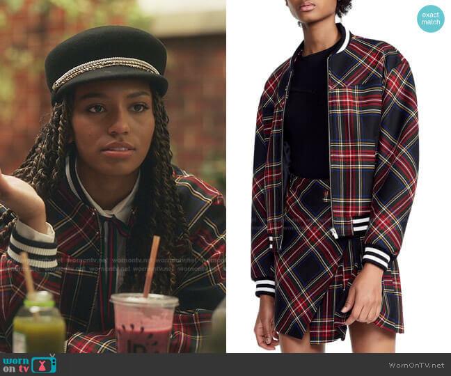 Bazak Jacket by Maje worn by Monet de Haan (Savannah Lee Smith) on Gossip Girl