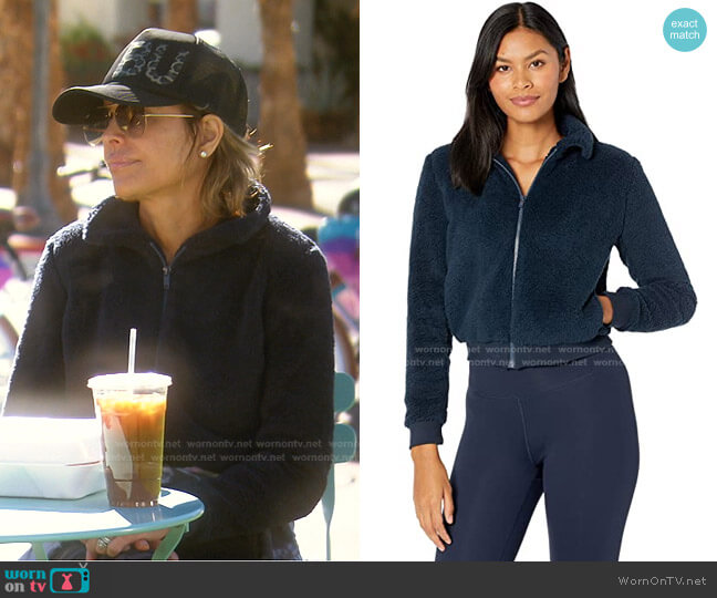 All Time Bomber Jacket by Beyond Yoga worn by Lisa Rinna  on The Real Housewives of Beverly Hills