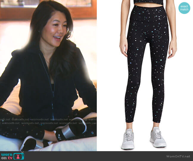 Tossed Star Leggings by Beyond Yoga worn by Crystal Kung Minkoff  on The Real Housewives of Beverly Hills