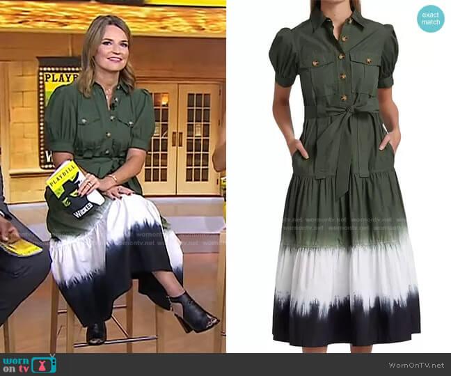 Buffy Utility Dress by Derek Lam 10 Crosby worn by Savannah Guthrie  on Today