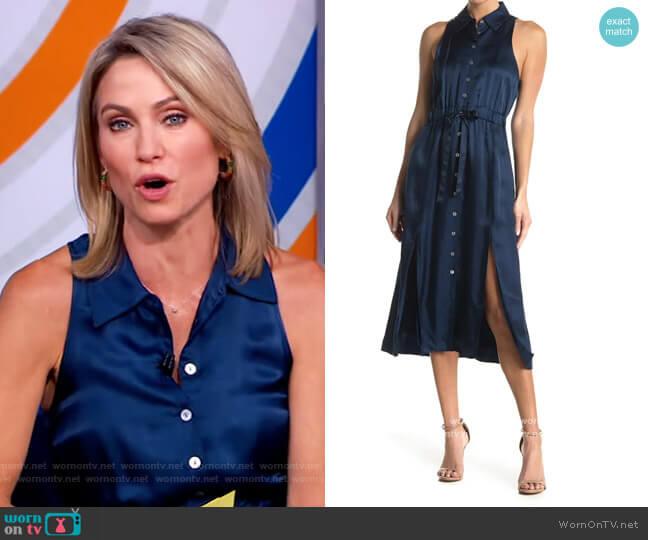 Joyce Sleeveless Tie Waist Midi Dress by Cinq a Sept worn by Amy Robach  on Good Morning America