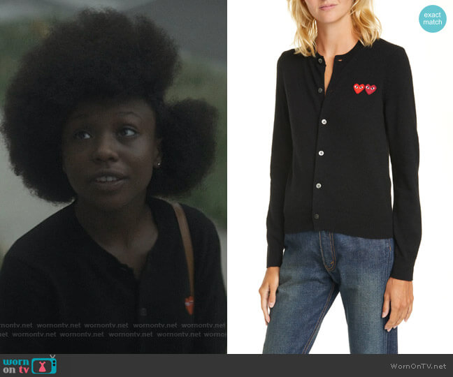 Wool Cardigan by Comme Des Gargons Play worn by Jemma St. John (Judae'a) on The Chi