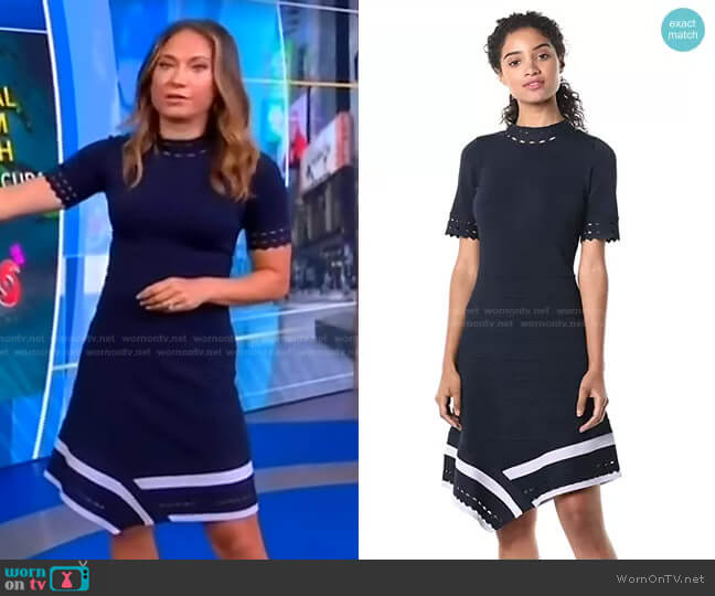 Costa Dress by Shoshanna worn by Ginger Zee  on Good Morning America