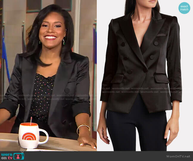 Dickey Double Breasted Blazer by Veronica Beard worn by Sheinelle Jones  on Today