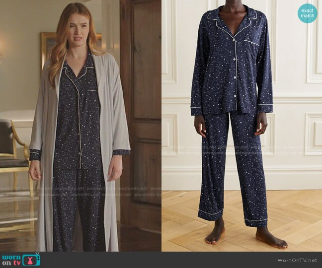 Gisele Pajama Set by Eberjey worn by Kirby Anders (Maddison Brown) on Dynasty