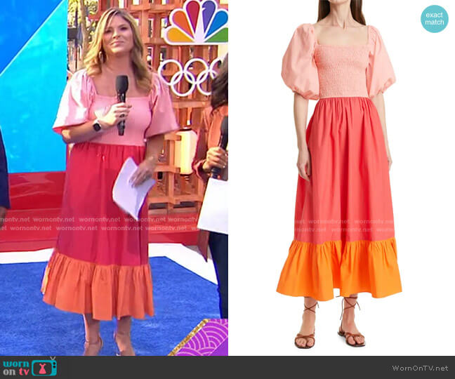 Eloise Dress by Rhode worn by Jenna Bush Hager  on Today