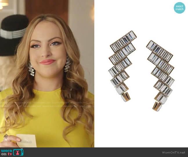 Evening Earrings by Balenciaga worn by Fallon Carrington (Elizabeth Gillies) on Dynasty