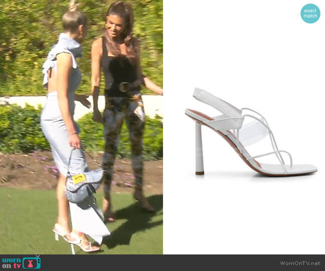 Code Word Sandals by Fenty worn by Dorit Kemsley  on The Real Housewives of Beverly Hills