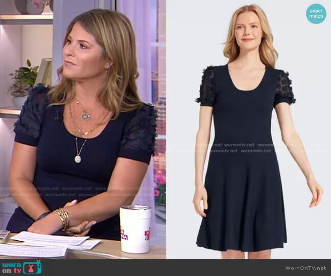 Fleurette Sleeve Sweater Dress by Draper James worn by Jenna Bush Hager  on Today