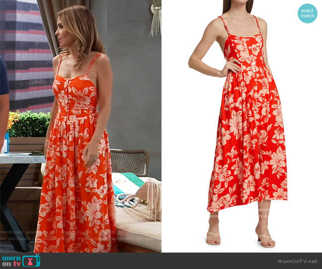 The Perfect Floral Sundress by Free People worn by Olivia Falconeri (Lisa Lo Cicero) on General Hospital