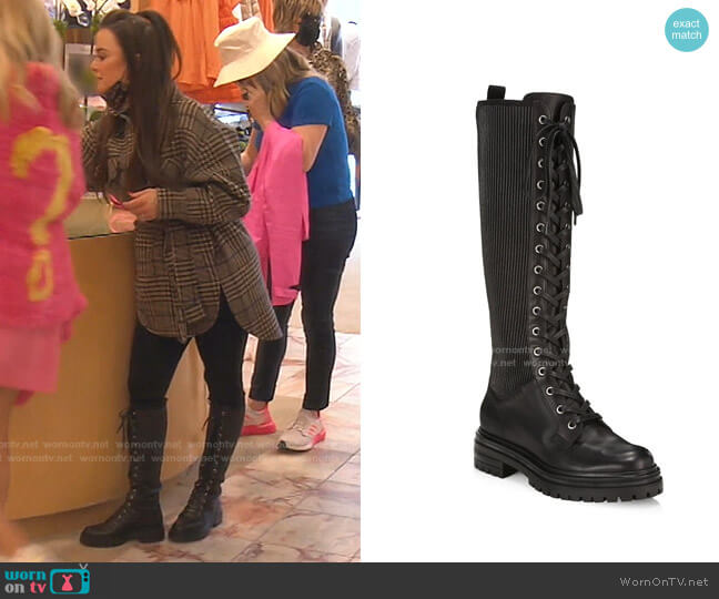 Martis Boots by Gianvito Rossi worn by Kyle Richards  on The Real Housewives of Beverly Hills