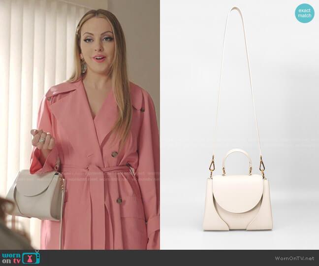 Aline Bag by Giaquinto worn by Fallon Carrington (Elizabeth Gillies) on Dynasty