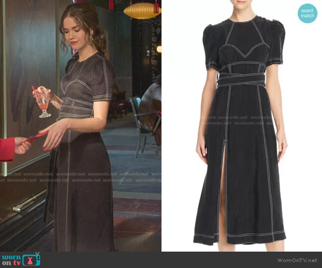 Hachi Midi Dress by Alice McCall worn by Callie Foster (Maia Mitchell) on Good Trouble
