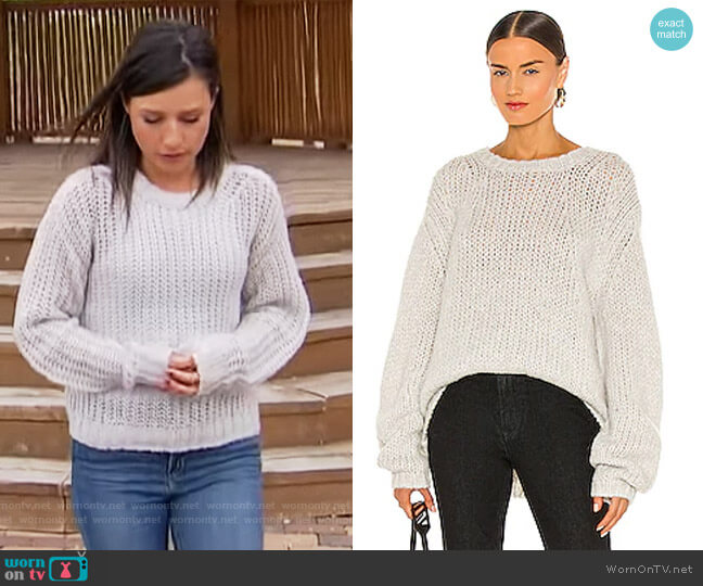 Alpaca Brushed Sweater by Helmut Lang worn by Katie Thurston  on The Bachelorette