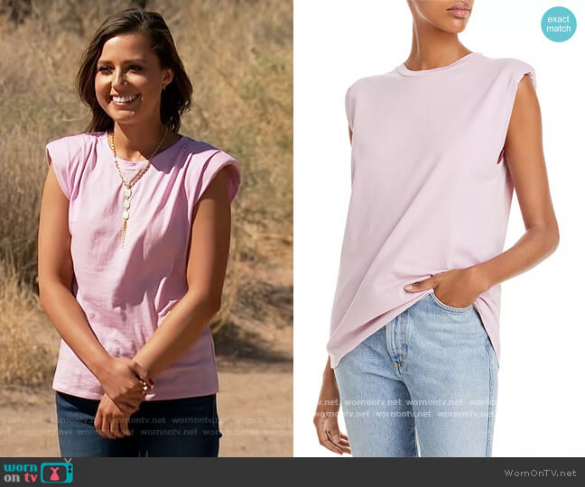 Loud Sleeveless T-Shirt by IRO worn by Katie Thurston  on The Bachelorette