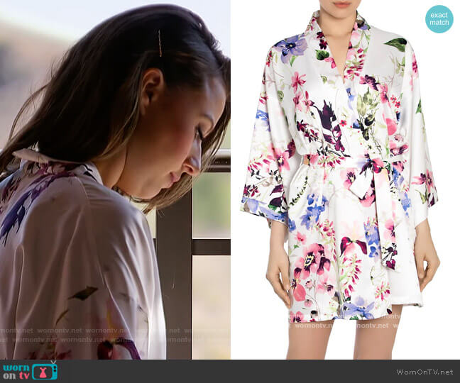 And I Love Her Floral Robe by In Bloom worn by Katie Thurston  on The Bachelorette
