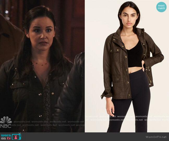 The downtown field jacket by J. Crew worn by Amy Santiago (Melissa Fumero) on Brooklyn Nine-Nine