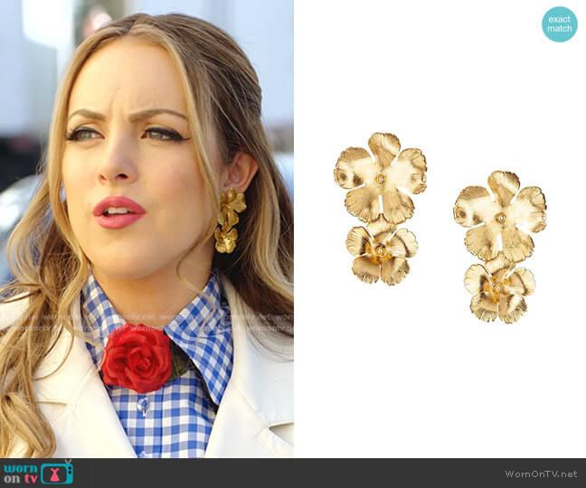 Collette Floral Drop Earrings by Jennifer Behr worn by Fallon Carrington (Elizabeth Gillies) on Dynasty