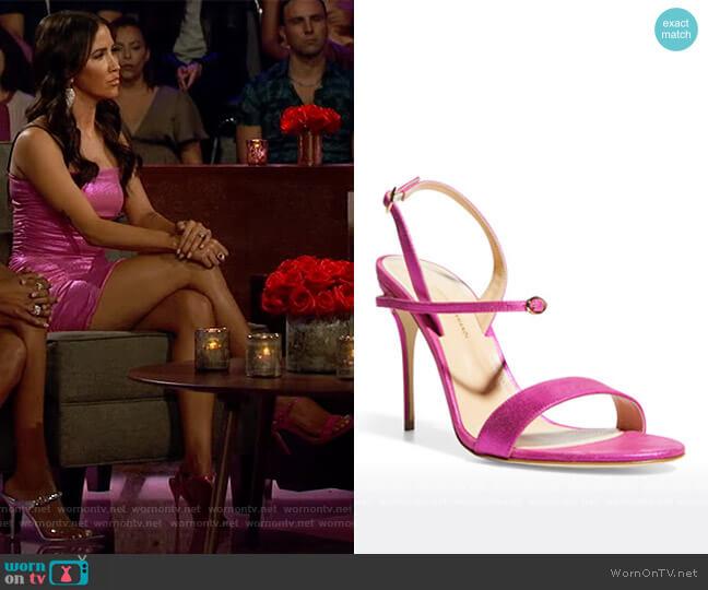 105mm Metallic Goatskin Stiletto Sandals by Jennifer Chamandi worn by Kaitlyn Bristowe  on The Bachelorette