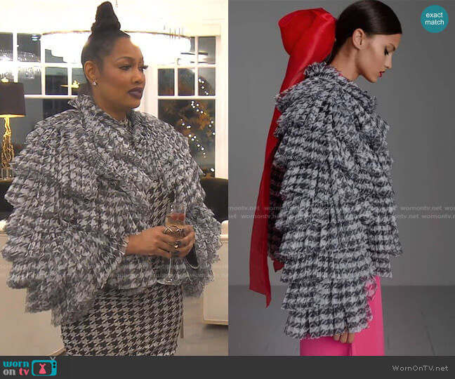 IT Jacket by Kaftan Studio worn by Garcelle Beauvais  on The Real Housewives of Beverly Hills