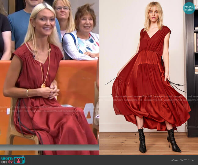 Giselle Dress by La Ligne worn by Zanna Roberts Rassi on Today