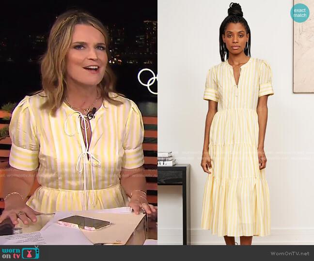 Izzy Dress by La Ligne worn by Savannah Guthrie  on Today