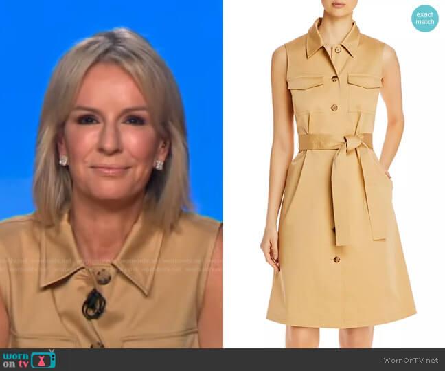Sonny Belted Shirtdress by Lafayette 148 New York worn by Dr. Jennifer Ashton  on Good Morning America