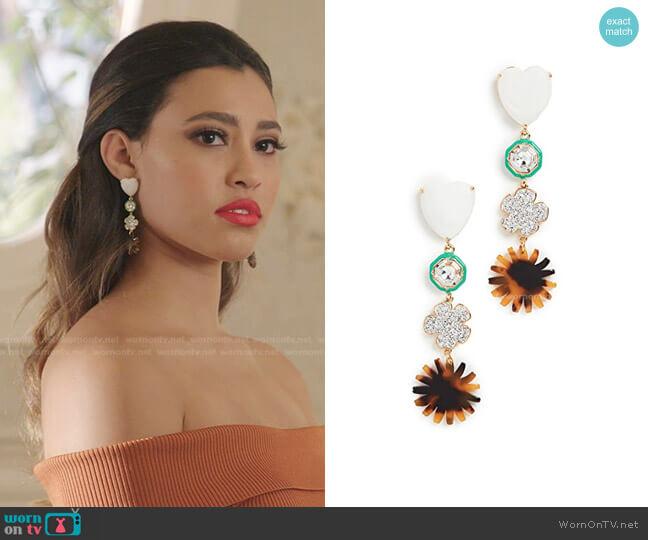 Canopy Linear Earrings by Lele Sadoughi worn by Kara Royster on Dynasty