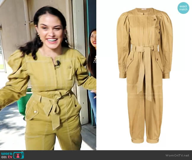 Leo Jumpsuit by Ulla Johnson worn by Donna Farizan  on Today