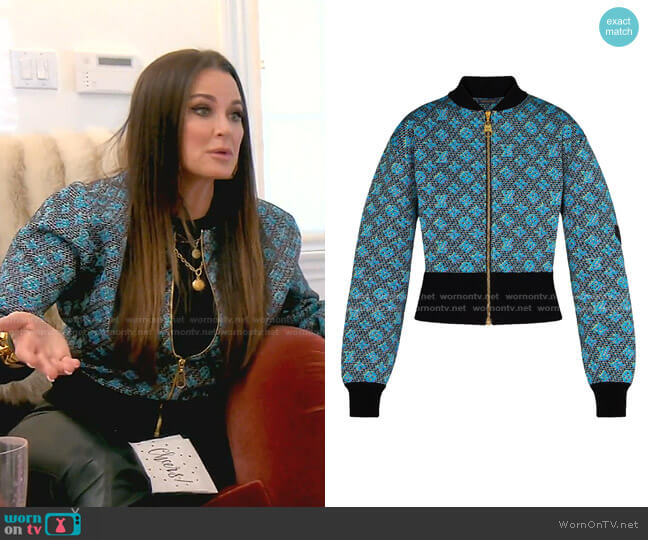 LV Pop Cardigan by Louis Vuitton worn by Kyle Richards  on The Real Housewives of Beverly Hills