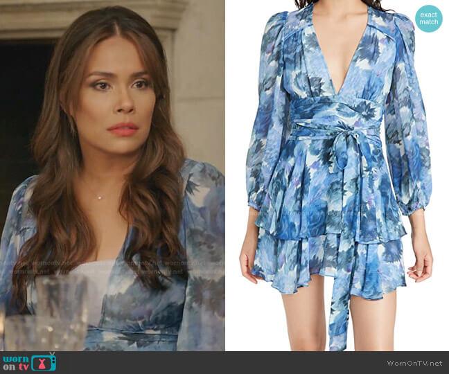 Lincoln Dress by LoveShackFancy worn by Cristal Jennings (Daniella Alonso) on Dynasty