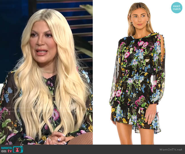 Callae Dress by Misa Los Angeles worn by Tori Spelling on E! News Daily Pop